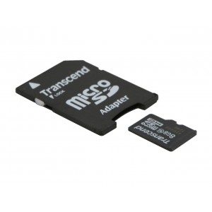 Transcend 8GB MicroSD (With Adapter) - CLASS 10