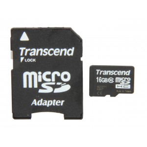 Transcend 16GB MicroSD Card (With Adapter) - CLASS 10