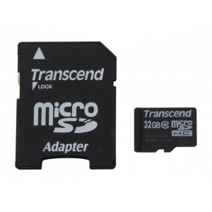 Transcend 32GB MicroSD (With Adapter) - CLASS 10