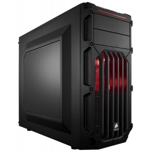 """Corsair SPEC Series 03 Chassis ATX RED LED Compact Gaming Chassis - 2x 5.25"""" & 3x 3.5"""" 2x 2.5"""" Bays"""