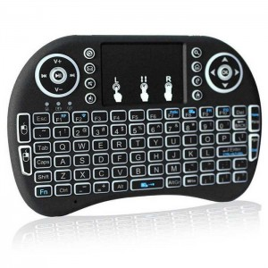 i8 Backlit Mini Wireless Keyboard With Touchpad Infrared Remote Control