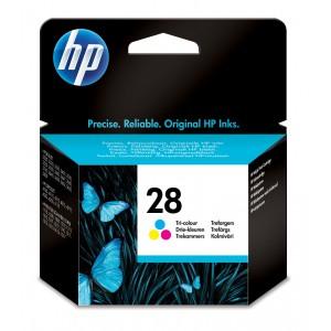 HP 28 Ink Cartridge, Tri-Colour(Cyan,Magenta,Yellow) Single Pack, C8728AE