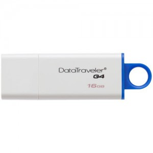 Kingston  DTIG4/16GB  16GB USB 3.1 Gen 1 DataTraveler I G4 Flash Drive (Blue)