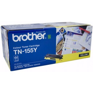 Brother TN-155Y Genuine Yellow Cartridge - 4,000 pages