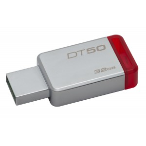 Kingston  DT50/32GB 32GB Datatraveler DT50 USB 3.1 Gen 1 Flash Drive (Red)