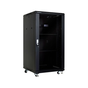Linkbasic 22U 600 Deep Cabinet 2 Fans & 2 Shelves