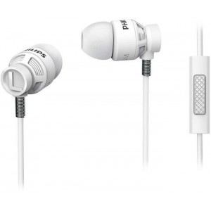 PHILIPS SHE5205 IN-EAR HP W/MIC- WHITE