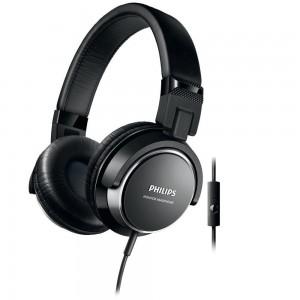 PHILIPS SHL3265 HP W/MIC - BLACK