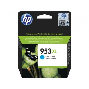 HP 953XL High Yield Cyan Original Ink Cartridge - HP OfficeJet Pro 8710/8720/8725/8730