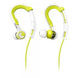 PHILIPS SHQ3400 ACTIONFIT SPORTS HEADPHONES- Lime Yellow & White