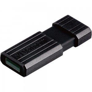VERBATIM 64GB PINSTRIPE USB2.0 FLASH DRIVE (BLACK)