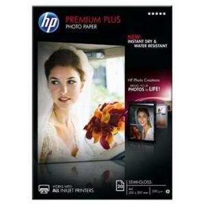 HP PREMIUM PLUS SEMI-GLOSS PHOTO PAPER 300 G/M -20 SHT/A4/210 X 297 MM