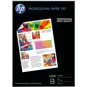 HP PROFESSIONAL GLOSSY LASER PAPER 150 G/M-150 SHT/A4/210 X 297 MM