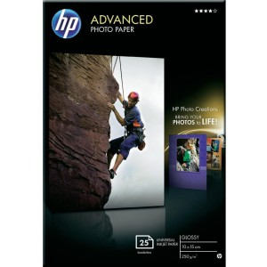 HP ADVANCED GLOSSY PHOTO PAPER 250 G/M -25 SHT/10 X 15 CM BORDERLESS