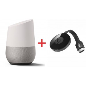 Google Home Smart Speaker PLUS 2nd Gen Google Chromecast HDMI Streaming Media Player (2015)
