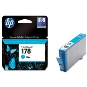 HP 178 CYAN INK CARTRIDGE WITH VIVERA INK - OfficeJet B8553 C5383 Photosmart