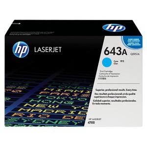 HP 643A COLOR LASERJET 4700 CYAN PRINT CARTRIDGE.