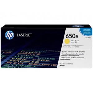 HP 650A COLOR LASERJET CP5525 YELLOW PRINT CARTRIDGE.
