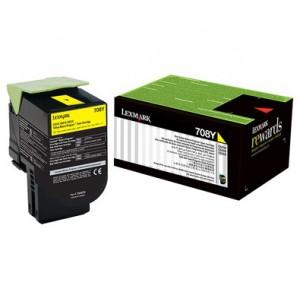 LEXMARK 708Y CS310 / CS410 / CS510 Yellow Return Program Toner Cartridge