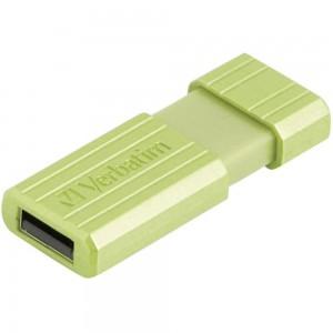 VERBATIM 16GB PINSTRIPE COLOUR USB2.0 FLASH DRIVE (EUCALYPTUS GREEN)