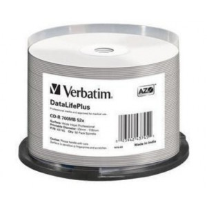 VERBATIM - 700MB - CD-R (52X) - PROFESSIONAL WIDE PRINTABLE SPINDLE - (PACK OF 50)