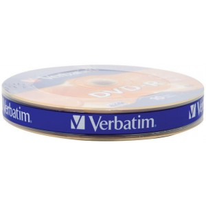 Verbatim DVD-R Matt Silver 16x 4.7GB - 10 Pack Wrap Spindle Optical Media