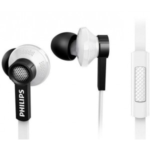 PHILIPS TX1 HEADPHONE W/MIC - WHITE