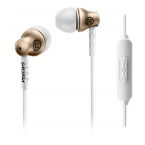 Philips SHE8105GD Earphones with Mic - Gold