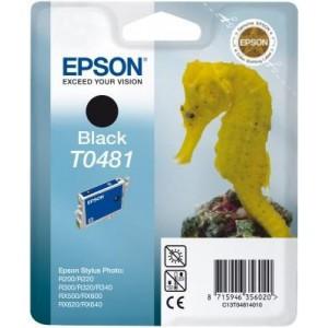 Epson T0481 Singlepack Black Ink Cartridge (Sea Horse)