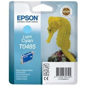 Epson T0485 Singlepack Light Cyan Ink Cartridge (Sea Horse)