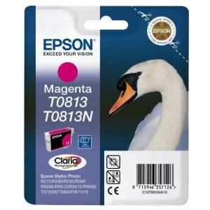 Epson T0813 Magenta Ink Cartridge (Swan)