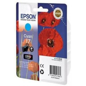 Epson 17 Claria Home Cyan Ink Cartridges (Poppy)