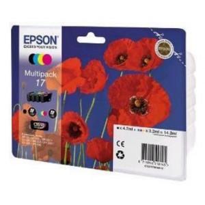 Epson T1706 MultiPack (B/Y/C/M) Ink Cartridges (Poppy)