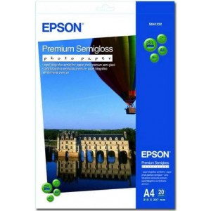 Epson A4 Premium Semi Gloss Photo Paper - 20 Sheets