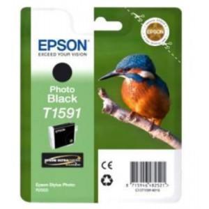 EPSON - INK - T1591 - PHOTO BLACK - KINGFISHER - SP R1998