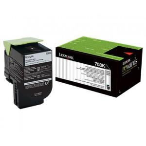 LEXMARK 708K CS310 / CS410 / CS510 Black Return Program Toner Cartridge