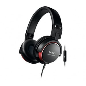 PHILIPS SHL3265 HP W/MIC - RED