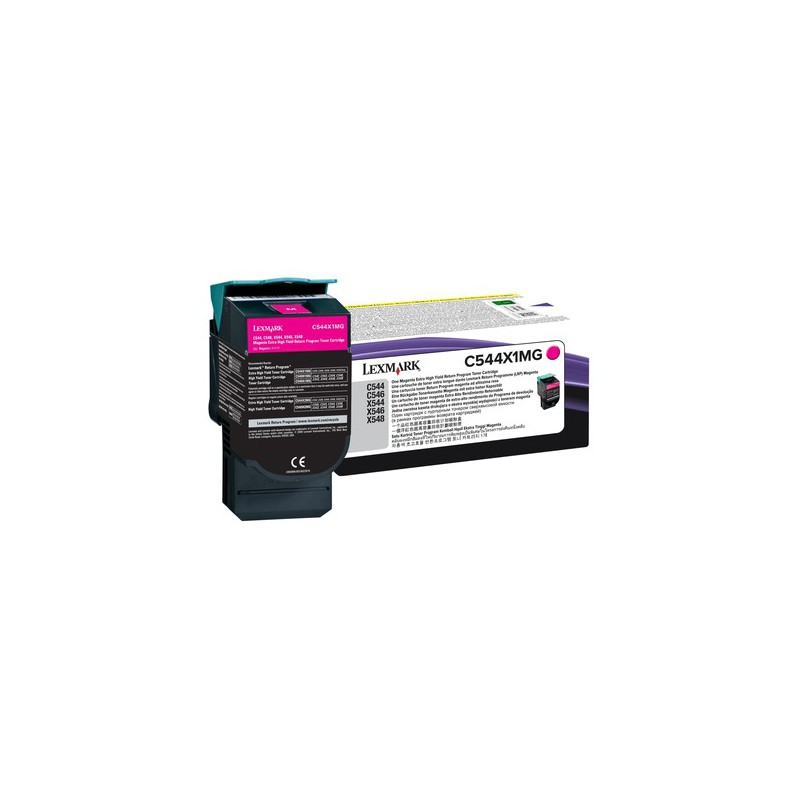LEXMARK C544 / X544 Magenta Extra High Yield Return Programme Toner Cartridge