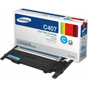Samsung CLT-C407S Cyan Laser Toner Cartridge