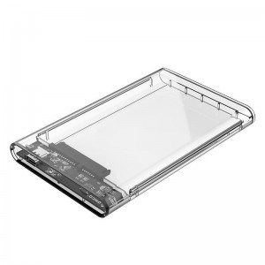 Orico 2.5 USB3.1 USB-C HDD and SSD Enclosure Transparent