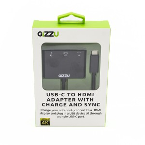 Gizzu GAUCCUHPD USB-C to USB 3.0 /HDMI/USB-C Data /Charging Adapter