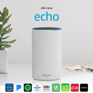 AMAZON All-new Echo 2nd Generation - Sandstone Fabric