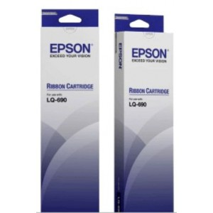 EpsonC13S015610BA Black Ribbon Cartridge for LQ-688