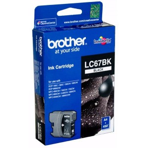 Brother LC67BK Black Ink Cartridge- 450 Pages