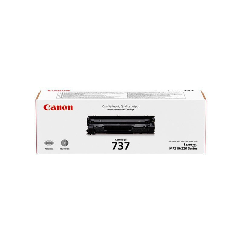 Canon 737 Black Toner with yield of 2400 pages