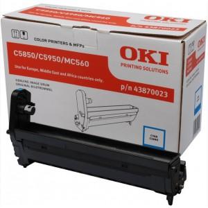 OKI 43870023 Cyan Image Drum (Laser Printer Imaging Unit)