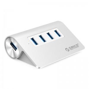 Orico M3H4-V1-SV-PRO 4-Port USB3.0 HUB Aluminium