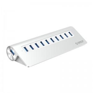 Orico M3H10-V2-SA-SV USB3.0 Hub Aluminium Silver