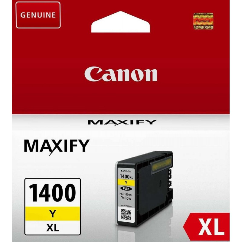 Canon PGI-1400XL Yellow Cartridge with yield of 900 pages