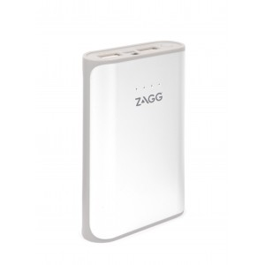 ZAGG IGNITION 6000 MAH POWER PACK WITH FLASH LIGHT - White